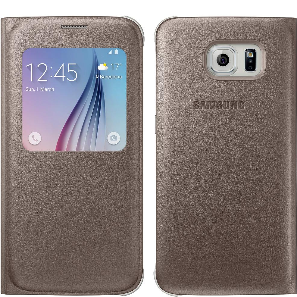 samsung s view flip cover for samsung galaxy s6 gold geniussamsung s view flip cover for samsung galaxy s6